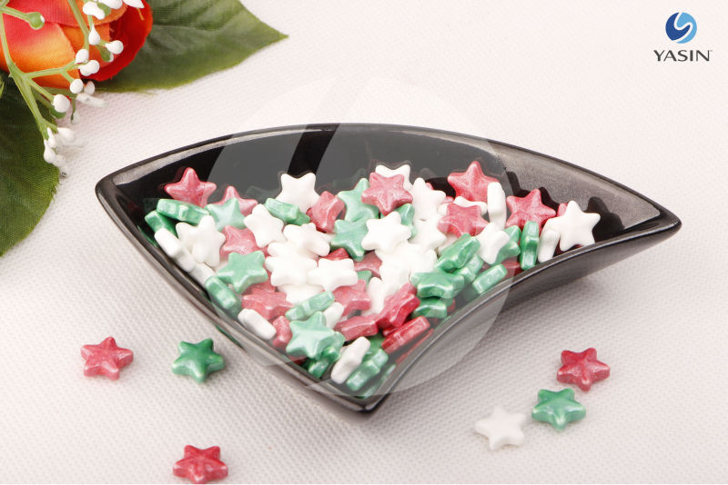 Cake Decoration Sprinkles : Cake decoration Colorful Star Sprinkles for Christmas ...
