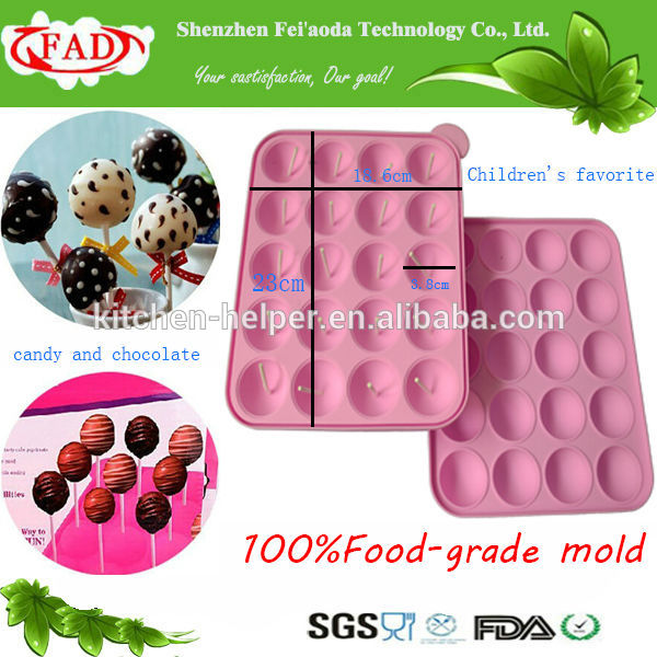 how to use silicone cake pop mould