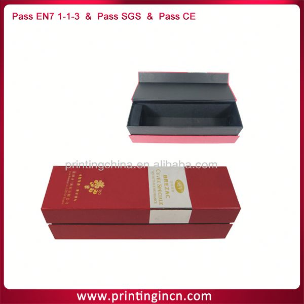Red wine paperboard tube gift box on hot sale products
