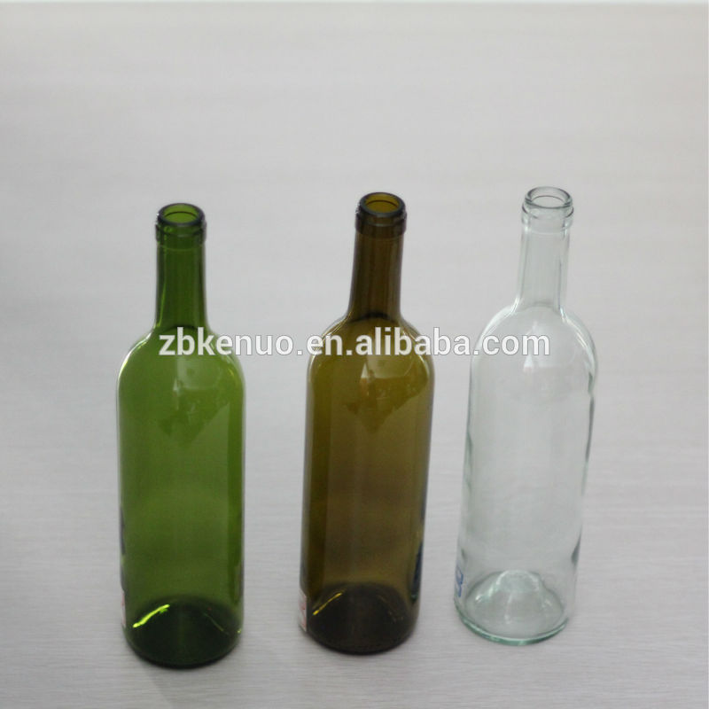 750ml colored glass wine bottles for sale with cork