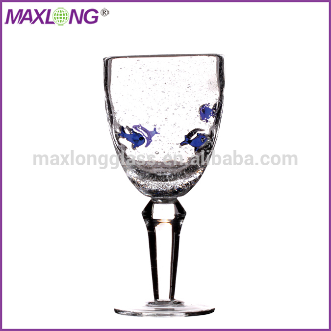Handmade thick stem red wine glass with fish products china handmade thick stem red wine glass - Wine glasses with thick stems ...