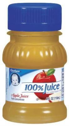 GERBER 100% JUICE APPLE 24 CASE 4 FLUID OUNCE