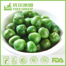 Dry salty green peas snack