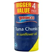 Princes Tuna Chunks In Oil 4pk