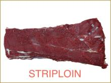 FROZEN BUFFALO/BEEF STRIPLOIN