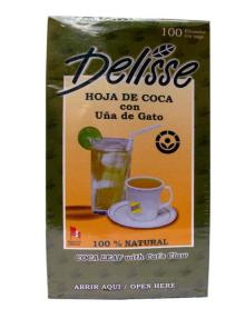 1 Box Tea Coca Leaf with Cat is Claw Delisse (100 bags)