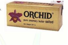 Orchid Pure Cream Butter Salted 227g
