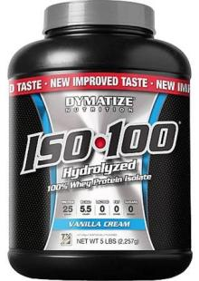 Dymatize Nutrition - ISO 100 100 Hydrolyzed Whey Protein Isolate Vanilla Cream - 5 lbs.