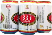 Saigon 333 light Lager Beer in 330ml tin
