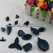 plastic gum paste flower cutters for cake icing,79pcs cake decorating cutters set