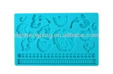 Rose and Flower Silicone Fondant Cake Mould,Baroque Beads Cake Decorations Gum Paste DIY Molds