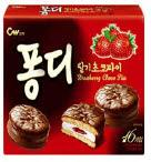 Choco pie with strawberry filling