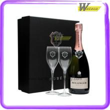Coated Paper Custom Luxury Champagne Glass Gift Box for Bollinger