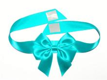 dark blue adhesive ribbon bow