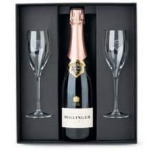 BOLLINGER BRUT 75cl Gift Box and Glass CHAMPAGNES