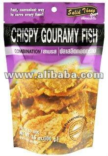 Fish snacks Crispy Gourami Fish Mixed Flavoured (spicy + sweet)