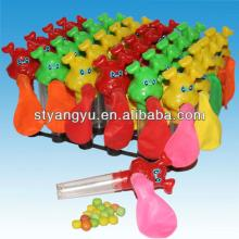 Dog balloon toy with candy
