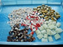 Frozen Seafood Mix,Red fish,Squid rings/tubes,salmon,Pollock fillet