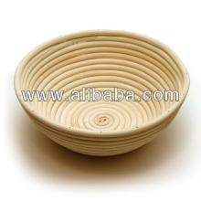 Round brotform - Round bread proofing basket - Rattan cane basket - Baking Bread basket