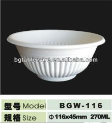 Eco-friendly natural corn starch bowl made of renewable resources