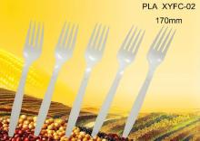 7'' Biodegradable disposable corn starch plastic dessert fork
