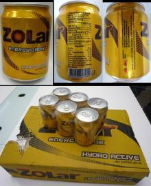ZOLAR Energy drink for sale