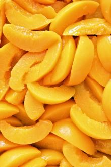 Canned Yellow Peach Strips