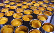 CANNED YELLOW PEACH HALVES IN 850 ML