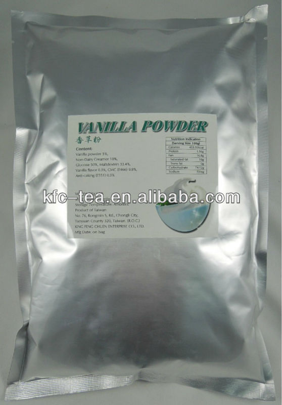 Vanilla flavor bubble tea powder