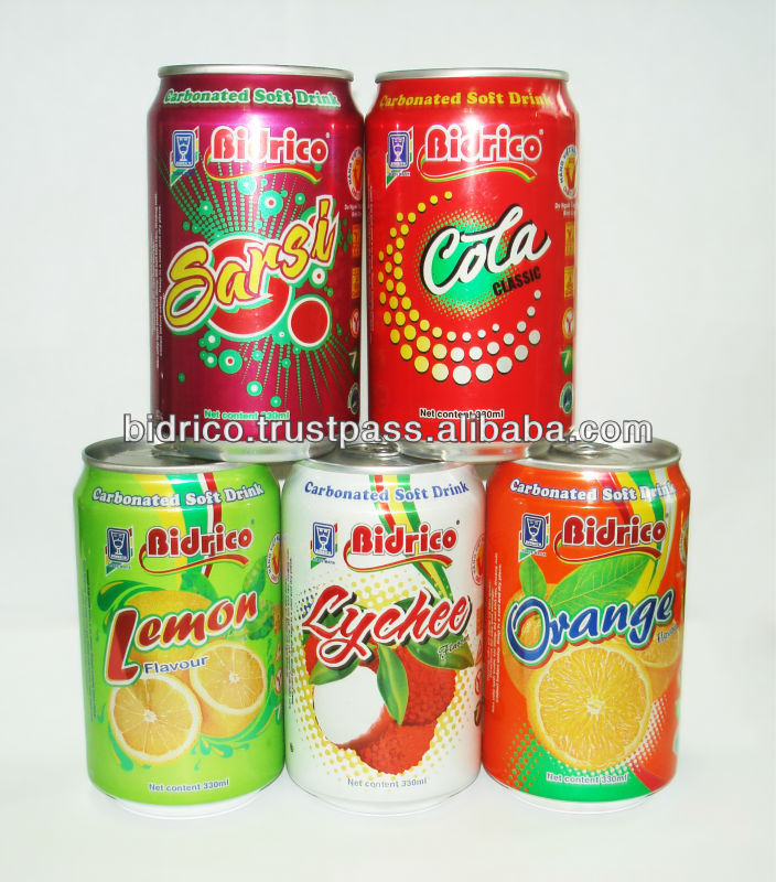 Carbonated Soft Drink in 330ml Aluminum Can - Bidrico Brand