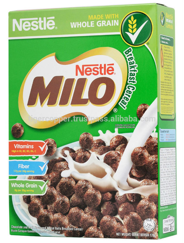 MILO BREAKFAST CEREAL BOX 170G products,Vietnam MILO ...