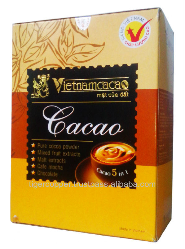 VINACACAO 5 IN 1 COCOA POWDER BOX 160G/CHOCOLATE DRINKS/COCOA DRINKS/CACAO DRINKS