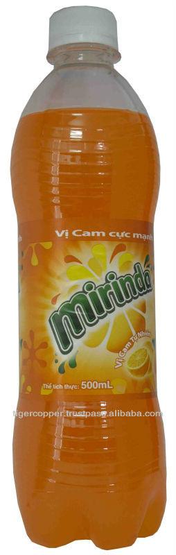 MIRINDA ORANGE PET BOTTLE 500ML/CARBONATED DRINKS/BOTTLED SOFT DRINKS/MIRINDA SOFT DRINKS/MIRINDA OR