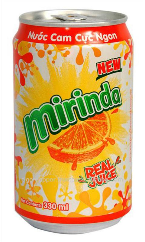 MIRINDA ORANGE CAN 330ML/CARBONATED DRINKS/CANNED SOFT DRINKS/MIRINDA ORANGE FROM VIETNAM/MIRINDA VI