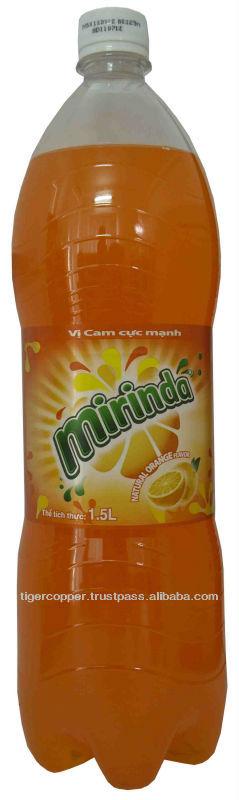 MIRINDA ORANGE PET BOTTLE 1.5L/CARBONATED DRINKS/BOTTLED SOFT DRINKS/MIRINDA SOFT DRINKS/MIRINDA ORA