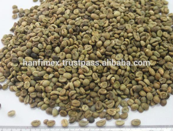 green coffee beans, robusta coffee bean