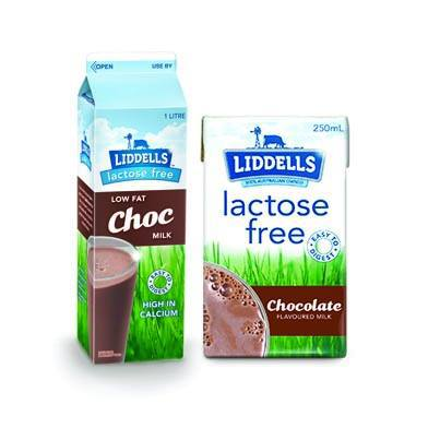 Liddells Lactose Free UHT Long Life 99% Fat Free Flavoured Milk Dairy 250ml No Preservatives Gluten