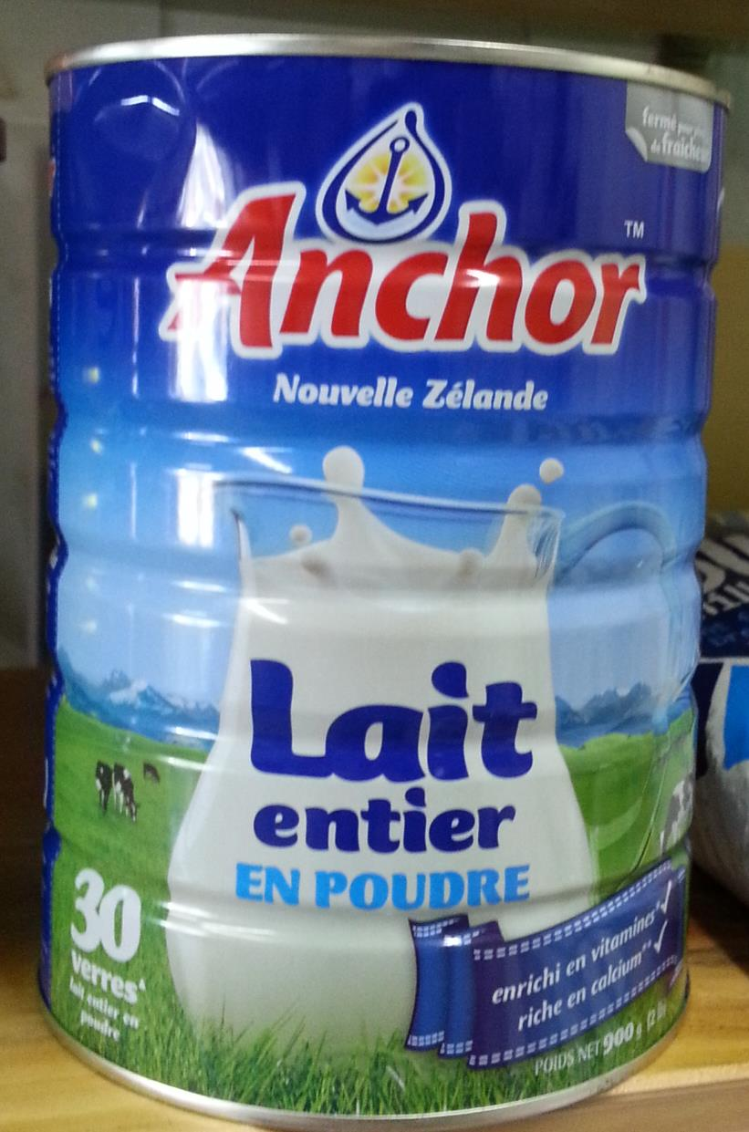 Anchor full cream milk powder canned 900g tin NZ version, Fonterra