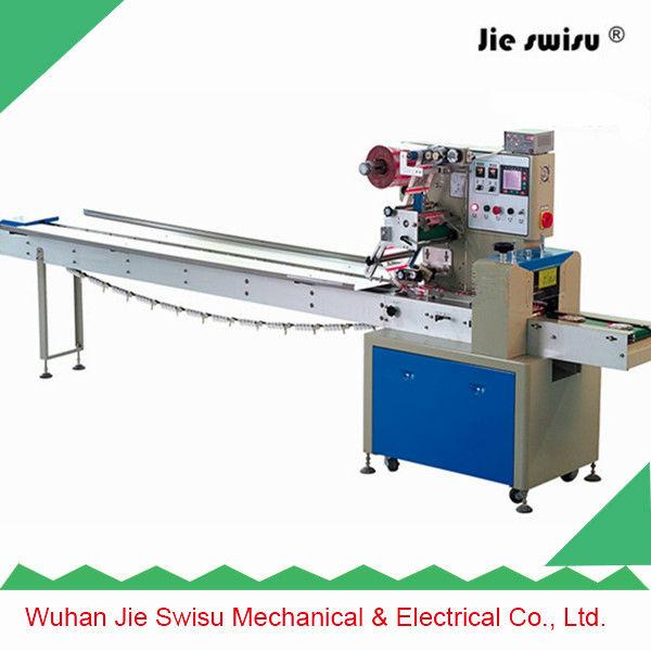 Wuhan jie swisu bar chocolate packing machine packing for Food bar packaging machine