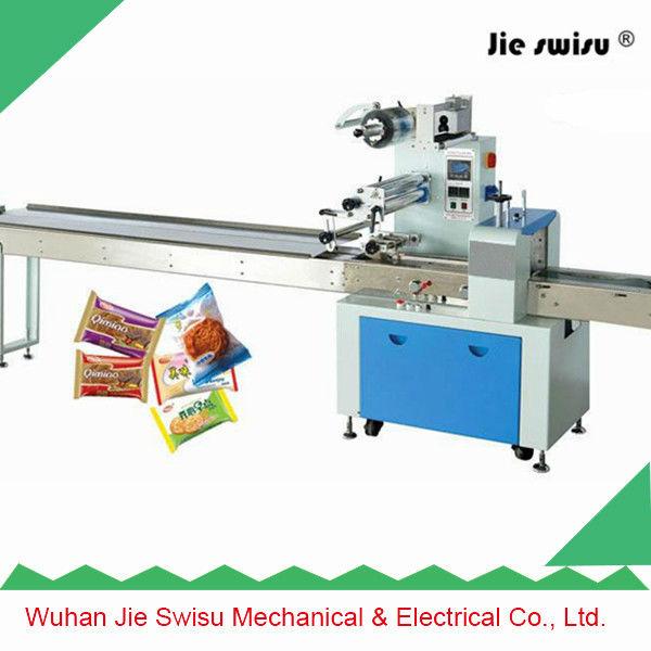 Wuhan jie swisu chocolate candy bar packing machine from for Food bar packaging machine