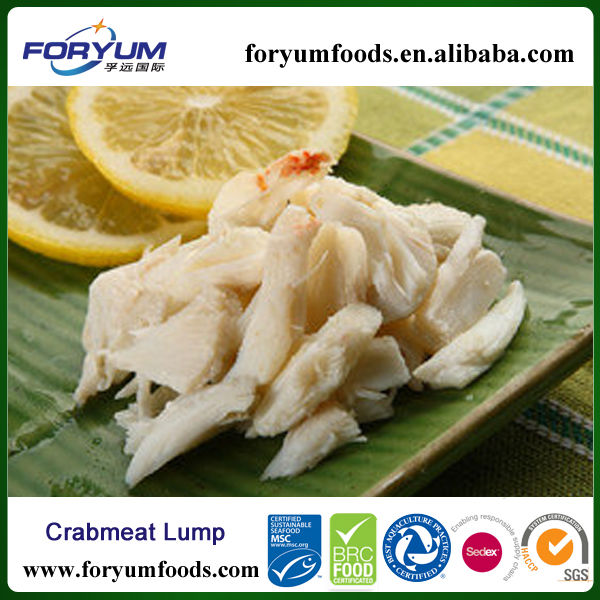 Canned lump crab meat
