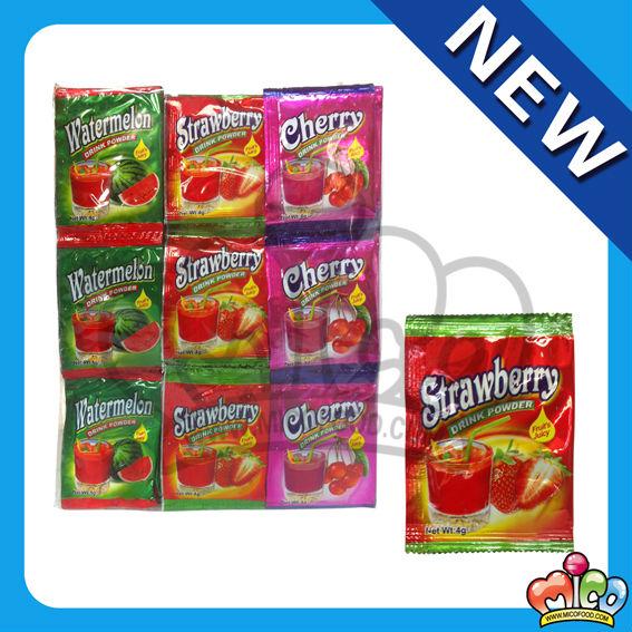 fruit drink powder ( strawberry flavor)