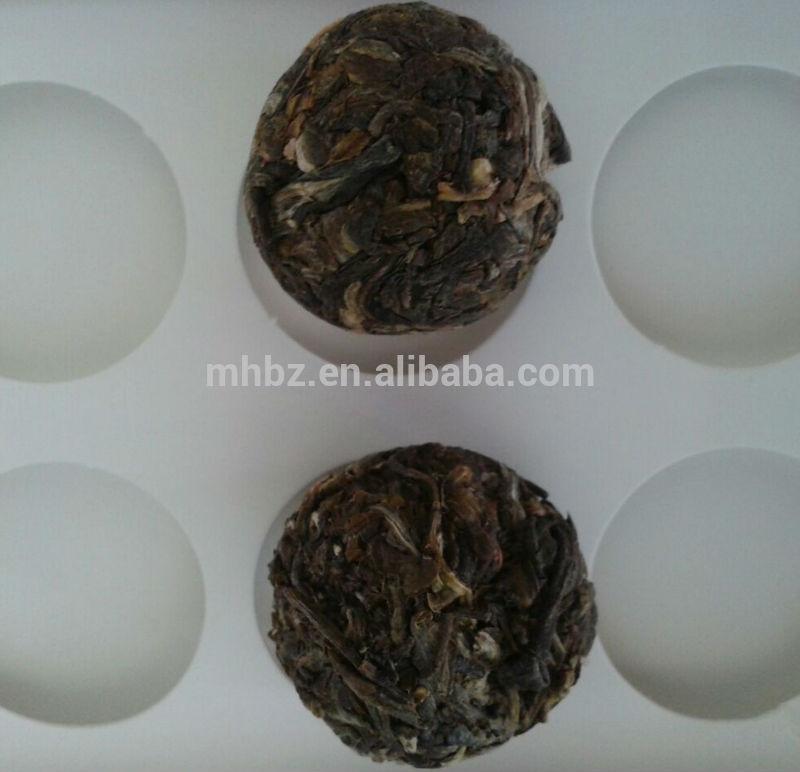 Dragon ball shaped puerh raw teas