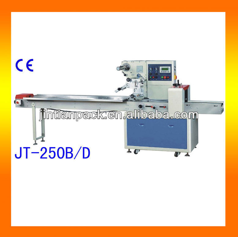 Chocolate and candy bar pillow packing machine jt 250b d for Food bar packaging machine
