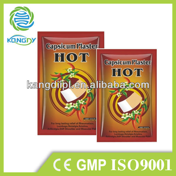 Chinese high quality free sample herbal pain relief patch