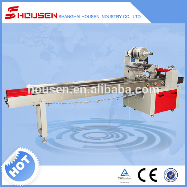 Shanghai full automatic pillow chocolate bar packaging for Food bar packaging machine
