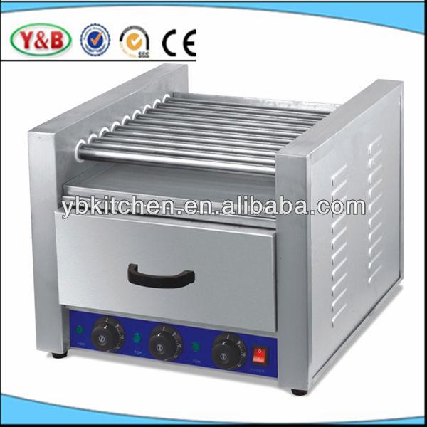 Hot dog grill with bun warmer high quality industrial hot - Hot dog roller grill with bun warmer ...