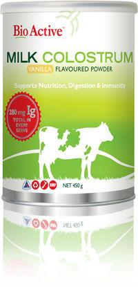 bio active- milk Colostrum Vanilla flavoured powder