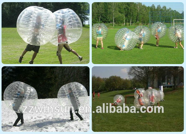 EN14960 approved human body zorb inflatable human bubble for new football sports
