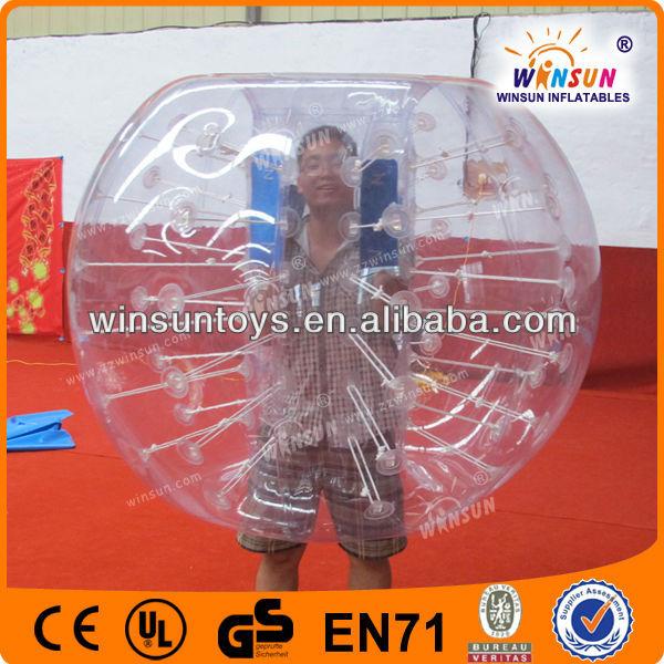 1.2m 1.5m TPU human body zorb football bubble soccer